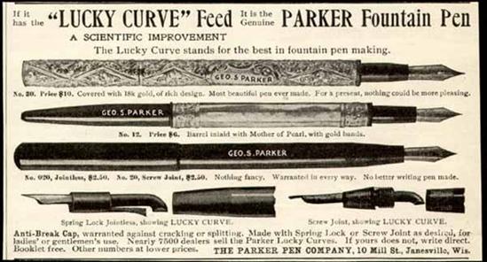 Картинки по запросу 1904 - Американский изобретатель Джордж Паркер запатентовал свою первую письменную ручку.